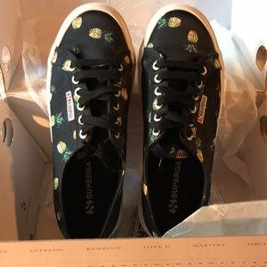 NIB Superga Black Pineapple shoes Women's 8.5